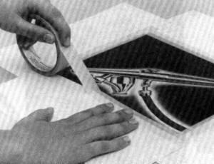 использование малярной клейкой ленты в аэрографии
