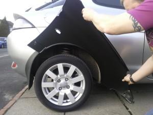 Замена задних арок автомобиля при скозной коррозии