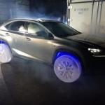Lexus NX на ледяных колёсах