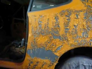 Снятие краски с автомобиля