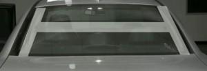 Формовка тонировочной плёнки заднего стекла