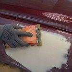 Шлифование автомобильной шпаклевки
