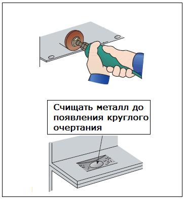 Приспособление для высверливания точечной сварки